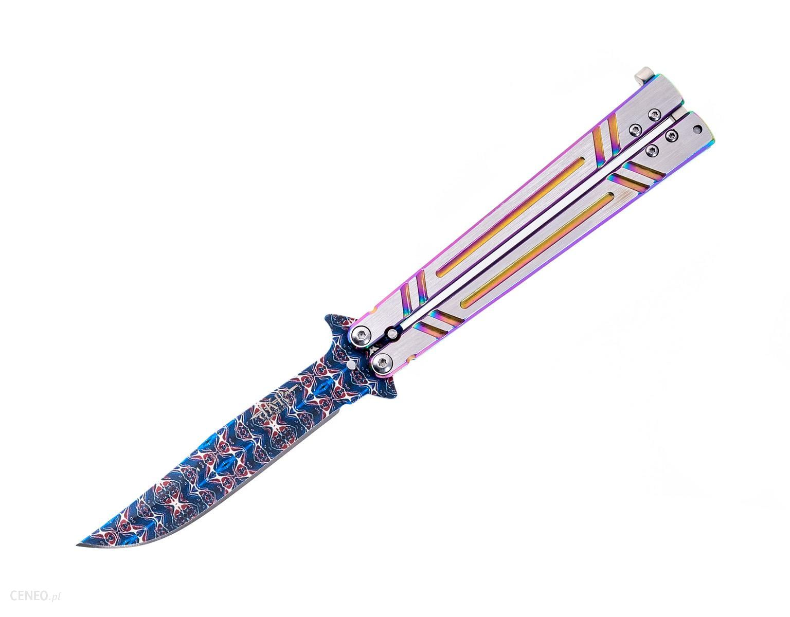 Joker Nóż Składany Motylek Rainbow Czakra Damascus (Jkr645)