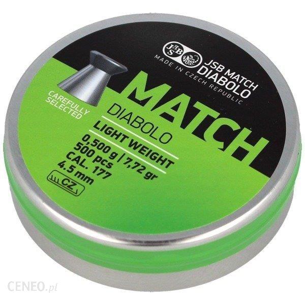 Jsb Śrut Do Wiatrówki Green Match Light Weight 4.49Mm 0.500g 500 Szt 000004-500-5