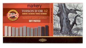Koh-I-Noor Pastele Toison D Or Sucha 7X7 Szarość 12Szt