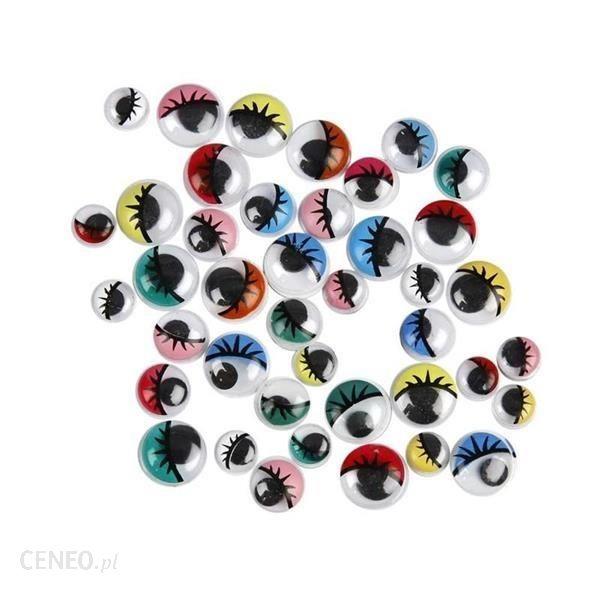 Kolorowe oczka do naklejania okrągłe 36szt