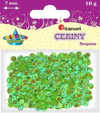 Konfetti cekiny 7mm 10g tęczowe zieleń (CO7/83)