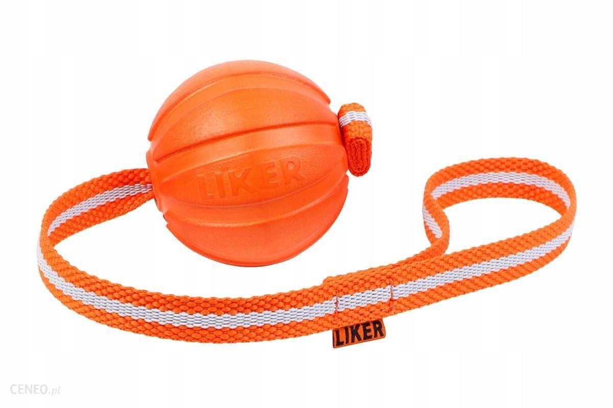 Liker Line Dog toy piłka dla psa na taśmie M 9cm