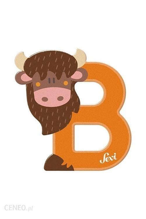 Litera B Bison Zestaw Zwierzęcy 12Szt