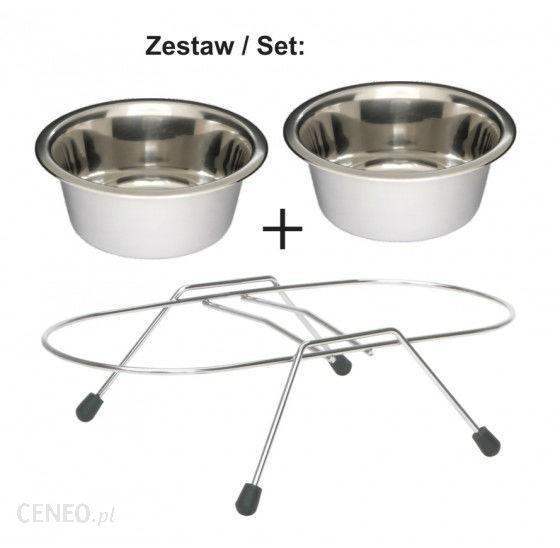 Lolo Pets Zestaw- Stojak Chromowany Z Miskami 0