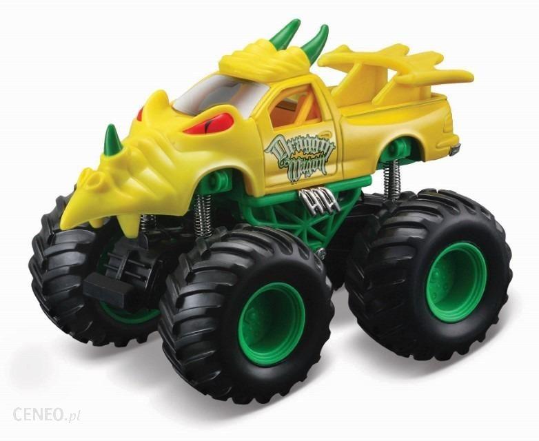 Maisto Earth Shockers Draggin Wagon Pojazd Żółty