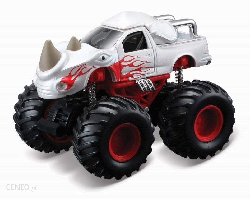 Maisto Earth Shockers Rippin Rhino Pojazd Biały