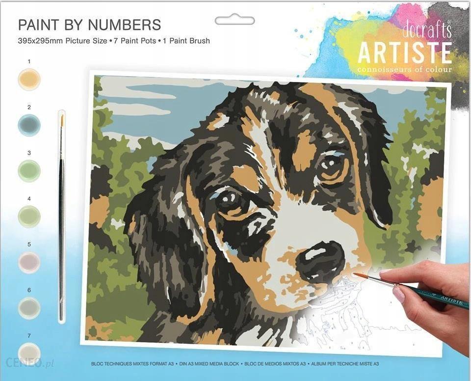 Malowanie Po Numerach Duży Zestaw Pies