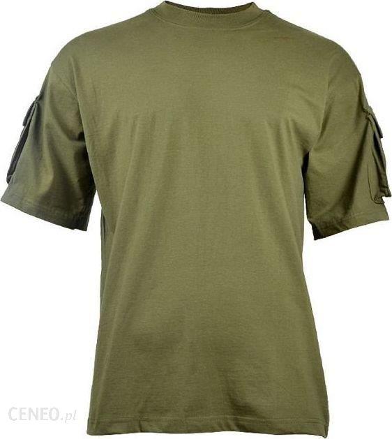 Max Fusch Mfh Koszulka T-Shirt Z Kieszeniami Na Rękawach Olive L