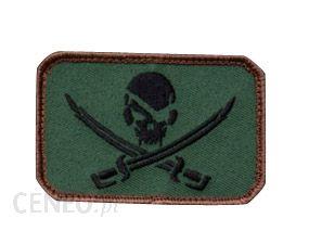 Mil Spec Monkey Naszywka Pirate Skull Flag Forest Green