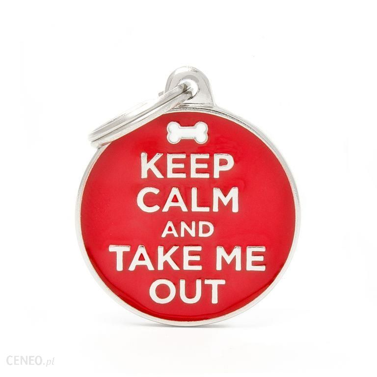 My Family Adresówka Keep Calm And Take Me Out 1szt. (CH17KEEPOUT)