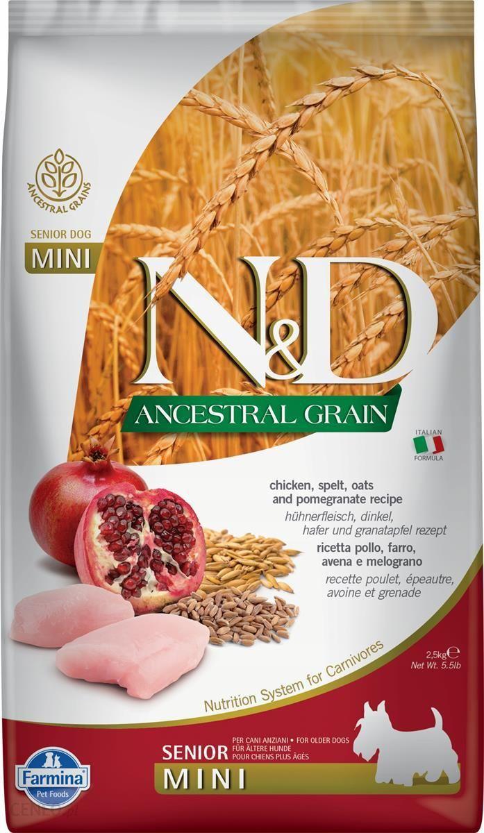 N&D Ancestral Grain Chicken Pomegranate Senior Mini 2