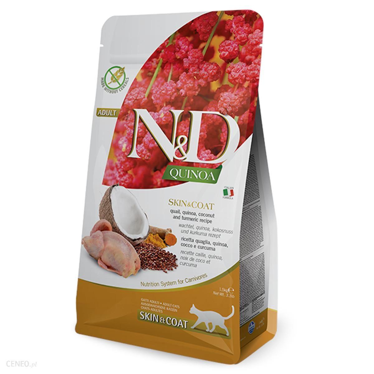 N & D Cat Quinoa Skin & Coat Quail 1