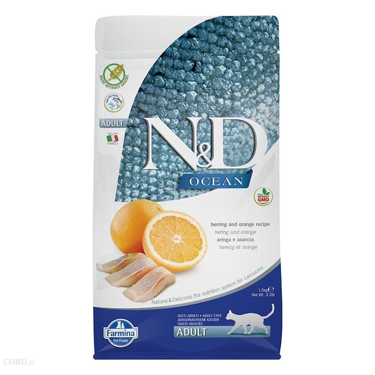 N&D Grain Free Ocean Cat Adult Herring Orange 1