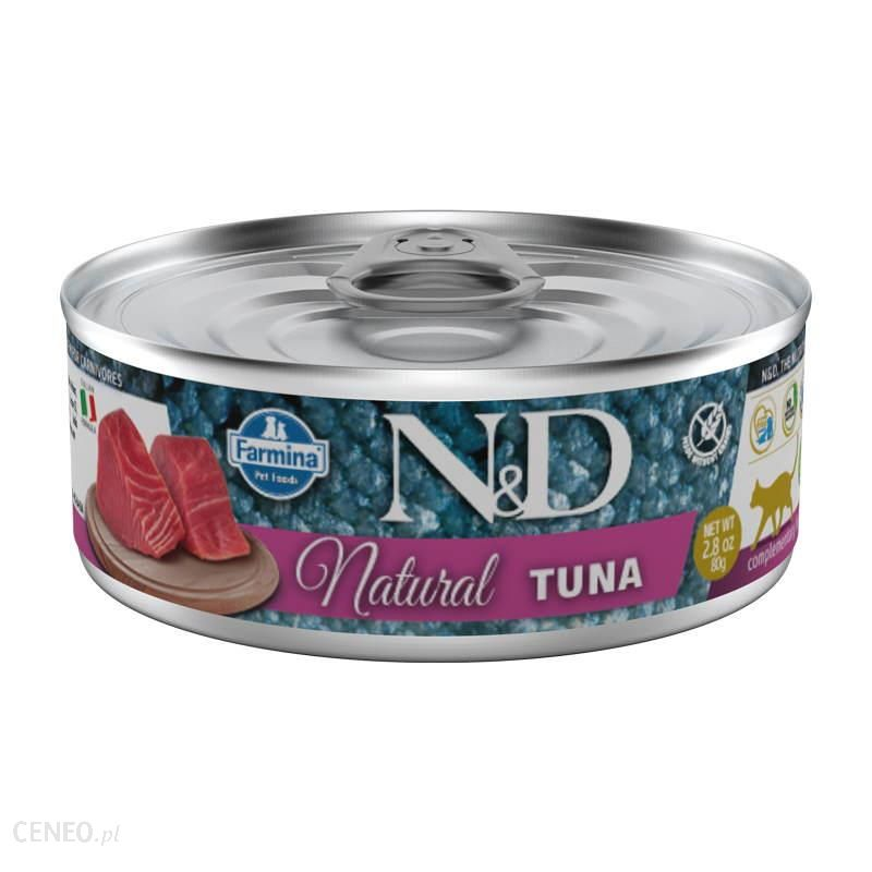N&D Natural Karma Dla Kotów Uzupełniająca I Naturalna Tuńczyk 80G