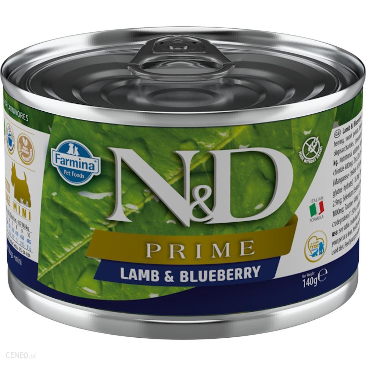 N&D Prime Lamb & Blueberry Mini Adult 140G