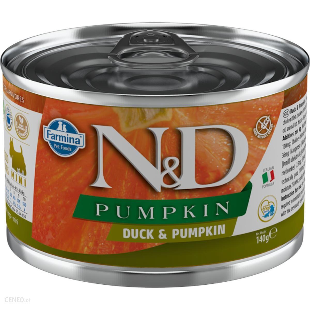 N&D Pumpkin Duck 140G