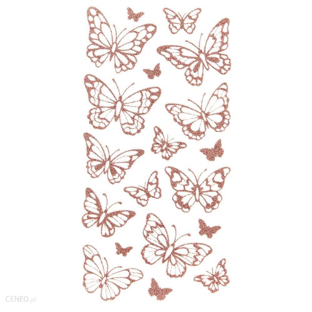 Naklejki Brokatowe Motylki 19Szt Dpnb-100