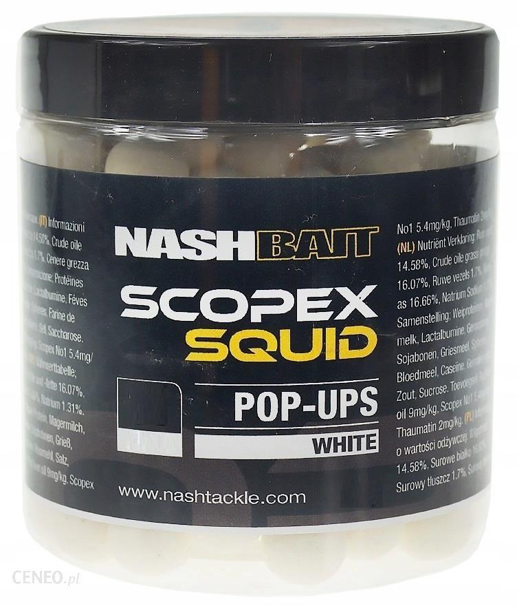 NASH SCOPEX SQUID POP-UP WHITE 18MM 75G B6843
