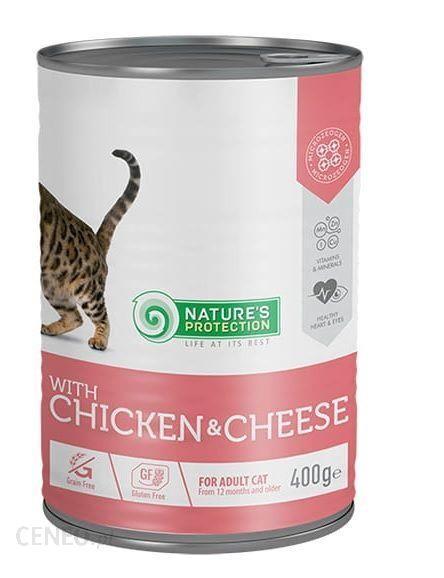 Nature's Protection Adult Cat Kurczak & Ser 400G