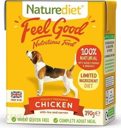 Naturediet Świeżo Przygotowany Kurczak Z Ryżem I Marchewką 390G