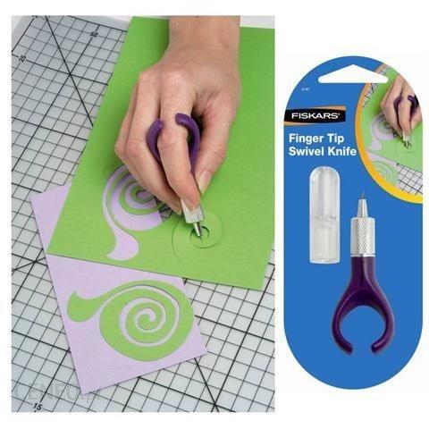 Nożyk modelarski z obrotowym ostrzem na palec