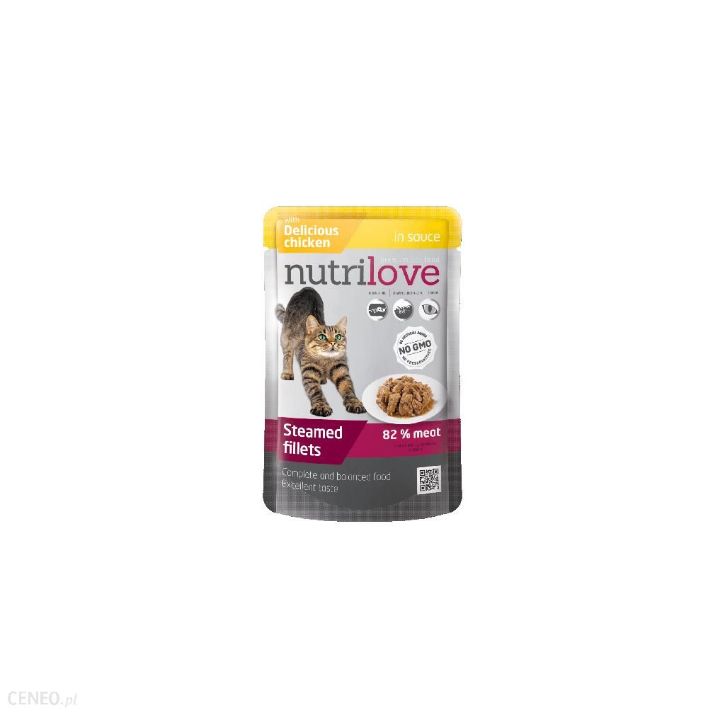 NUTRILOVE PREMIUM CHUNKS WITH CHICKEN IN SAUCE 12x85G