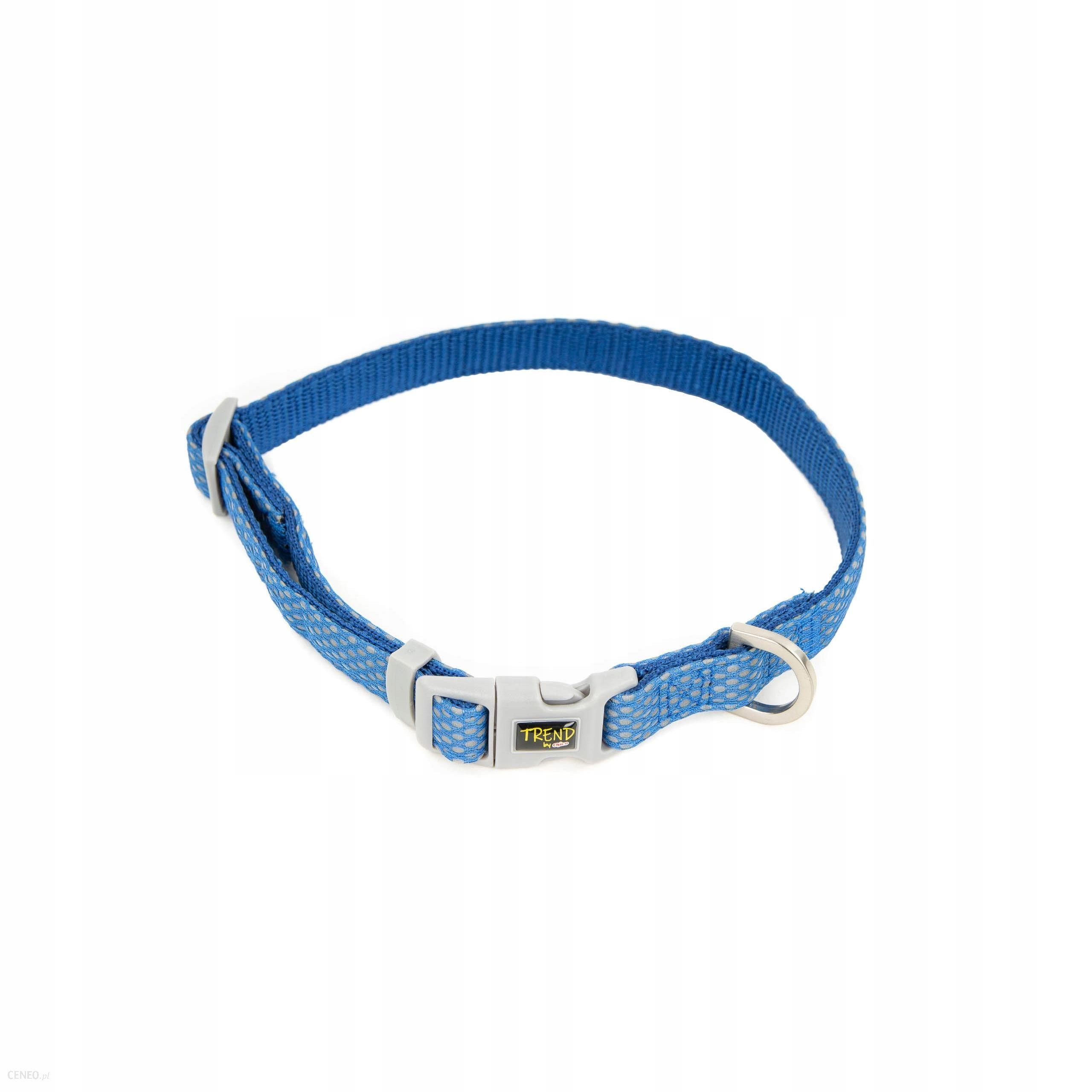 Obroża Trend Dots na Click 40-66cm Niebiesk 25mm