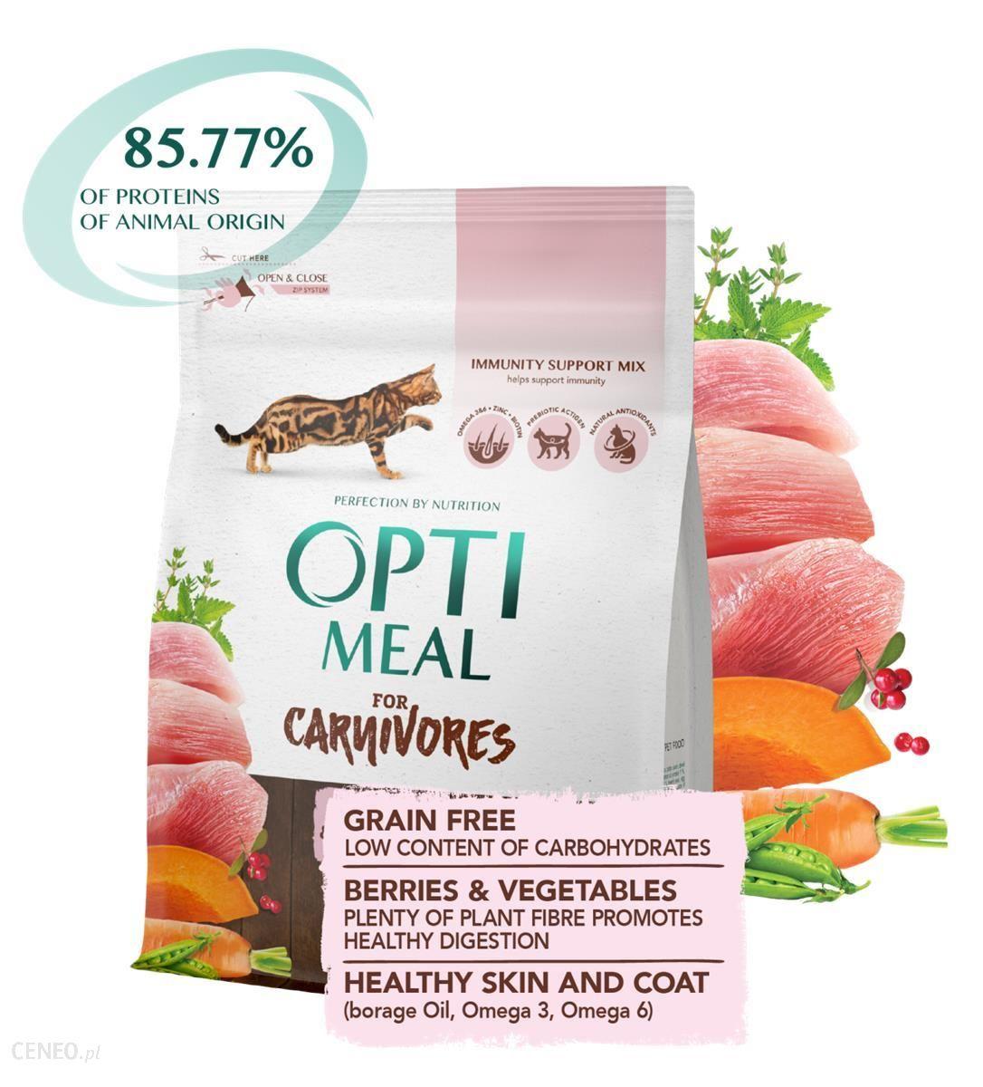 Optimeal For Carnivores Bezzbożowa Z Indykiem I Warzywami 300G