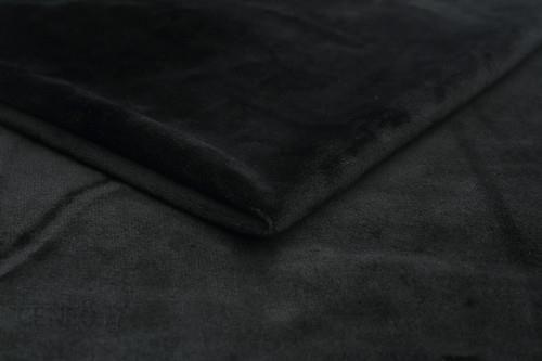 Orient Fashion Dzianina Minky Gładki Czarny