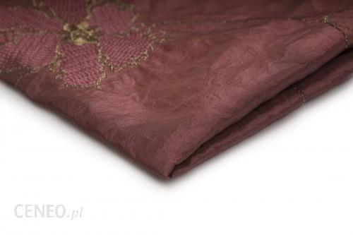 Orient Fashion Tafta Haftowana Kwiaty Brudny Róż