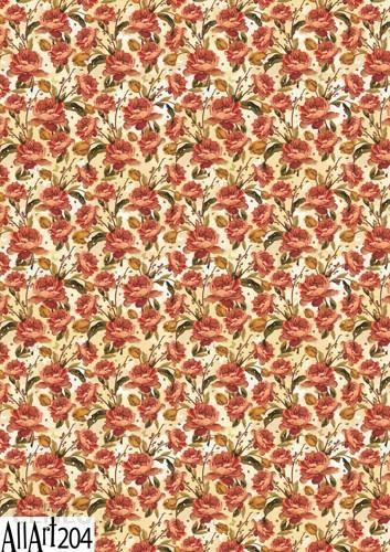 Papier decoupage 210x297mm A4 AllArt 204 kwiaty 5696