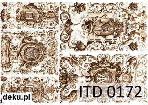 Papier decoupage A4 210x297 itd 0172m 534