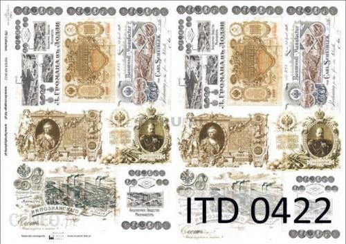 Papier decoupage A4 210x297 itd 0422m 3371