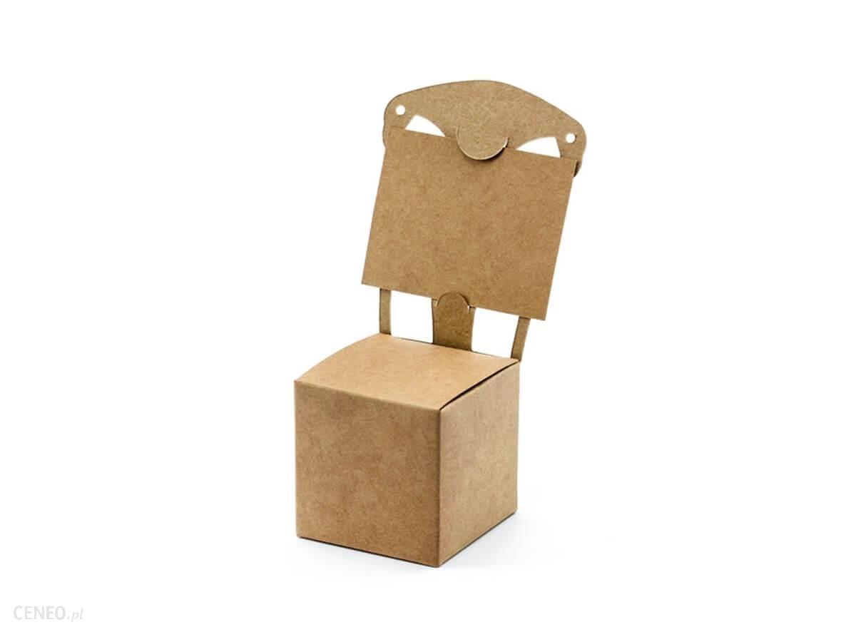 Partydeco Pudełeczka Krzesełko Kraft 5X5X5Cm 10 Szt