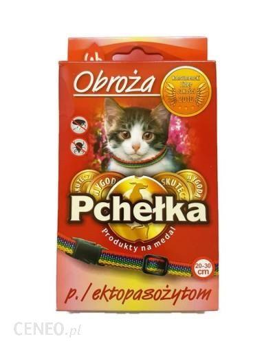 PCHEŁKA Obroża insektobójcza dla kota przeciw pchłom i kleszczom 20-30cm