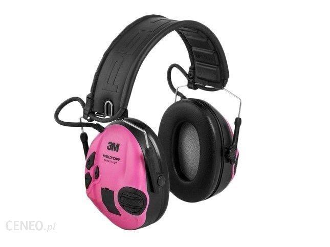 Peltor Ochronniki Słuchu Sporttac Aktywne Zielono-Różowe (401008)