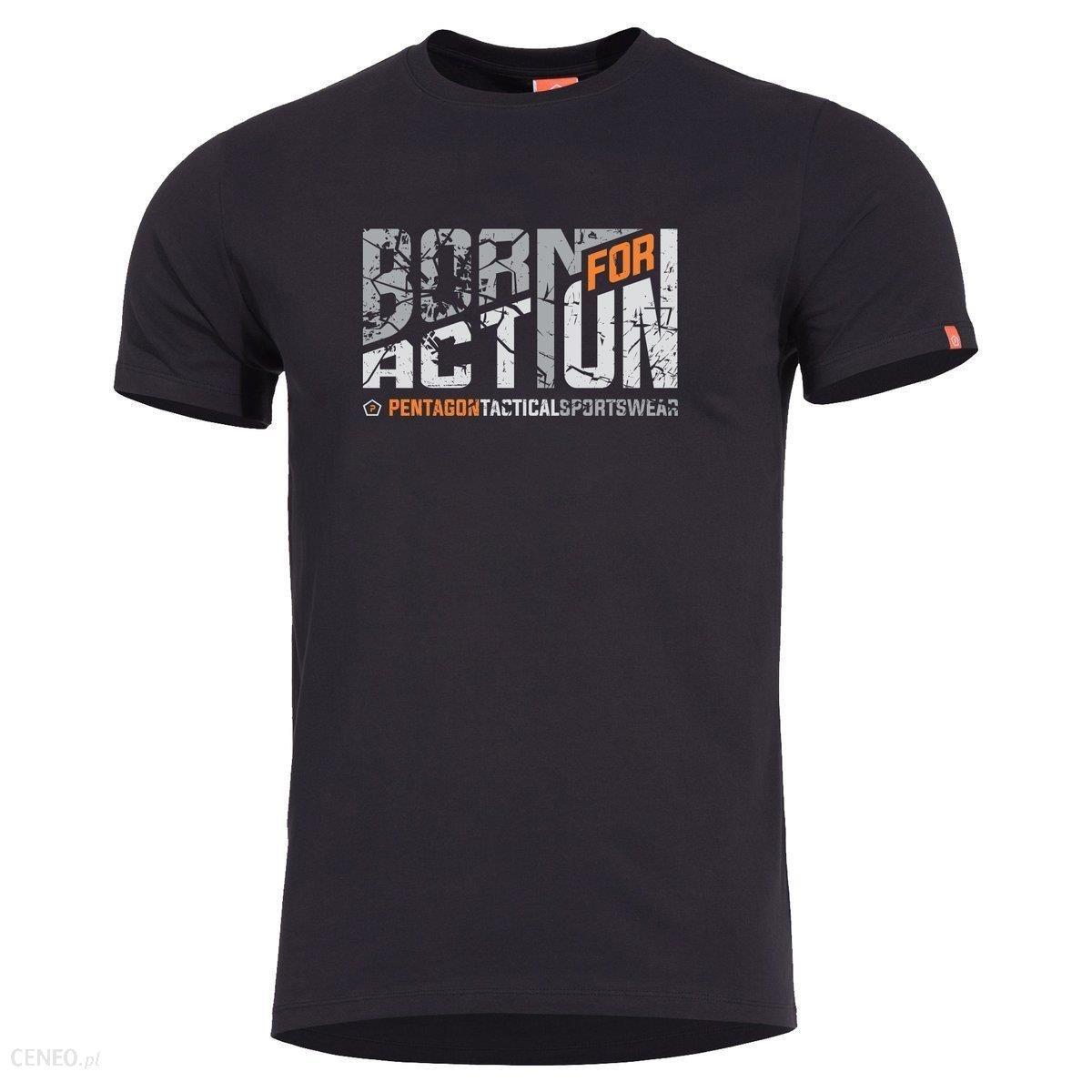 Pentagon T-Shirt Ageron Born For Action Black (K09012-Ba-01)