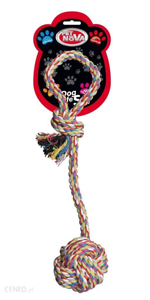 Pet Nova zabawka dla psa Piłka Na Sznurze 9cm