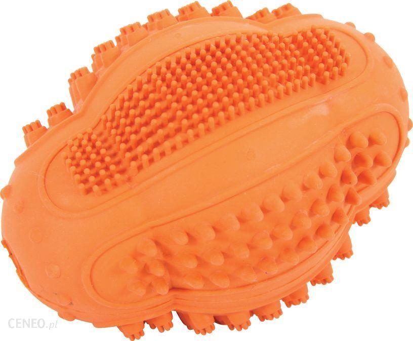 Piłka kauczukowa Rugby Dental 8cm zabawka dla psa