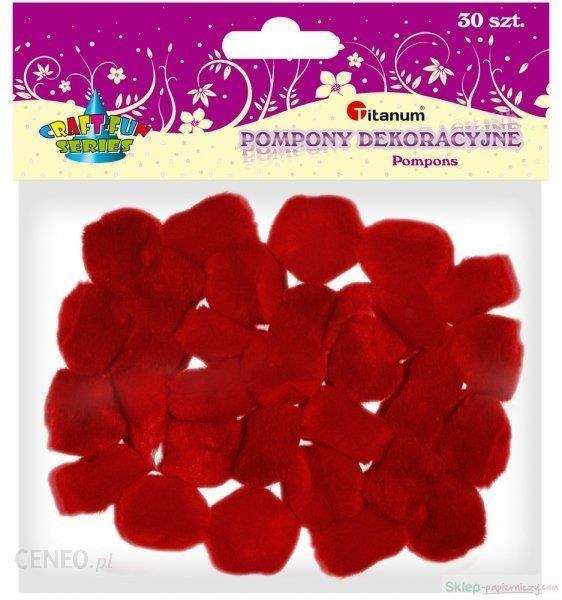 Pompony TITANUM czerwone op.30 283063