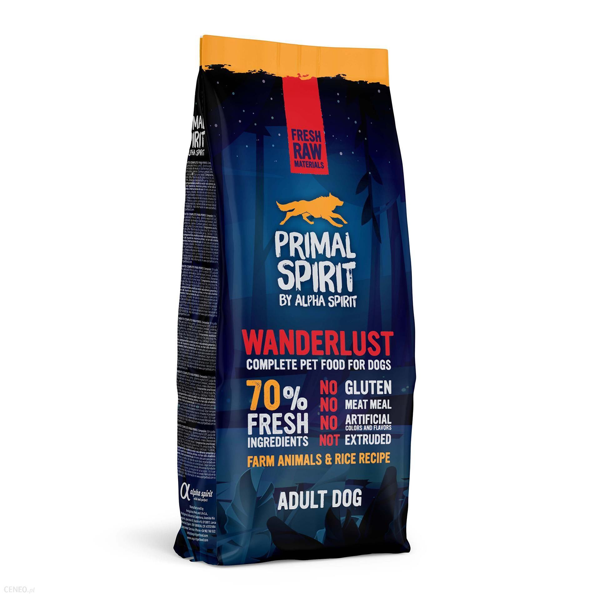 Primal Spirit 70% Wanderlust 12Kg