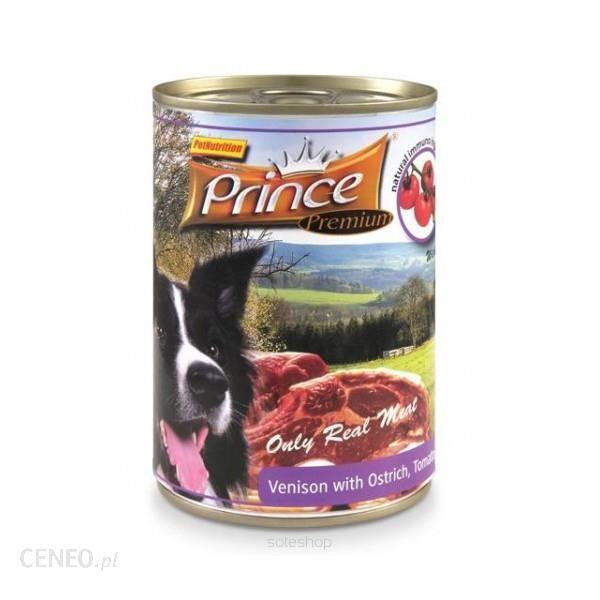 Prince Premium Jeleń Struś Pomidory Marchewka 800g