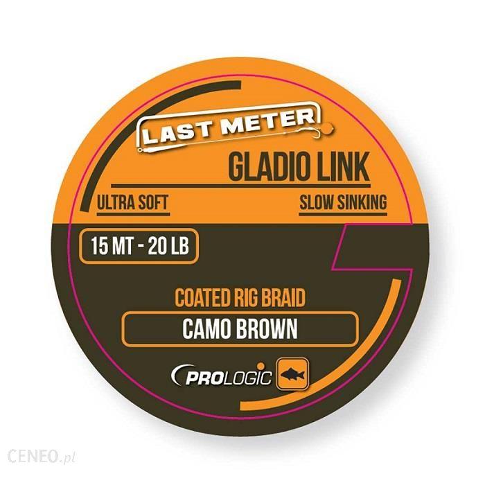 Prologic PLECIONKA GLADIO LINK 15m/40lbs mat brąz