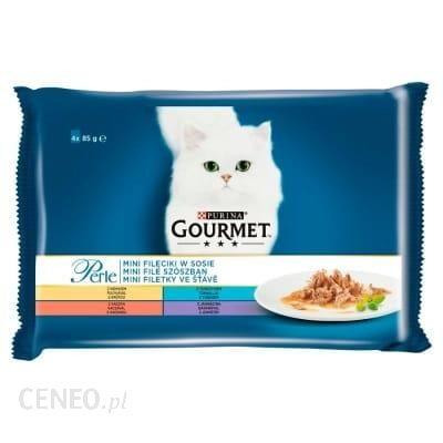 Purina Gourmet Perle Karma Dla Kotów Mini Fileciki W Sosie 340G (4X85 G)