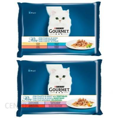 Purina Gourmet Perle Karma Dla Kotów Mini Fileciki W Sosie Mix 2X340G (4X85 G)
