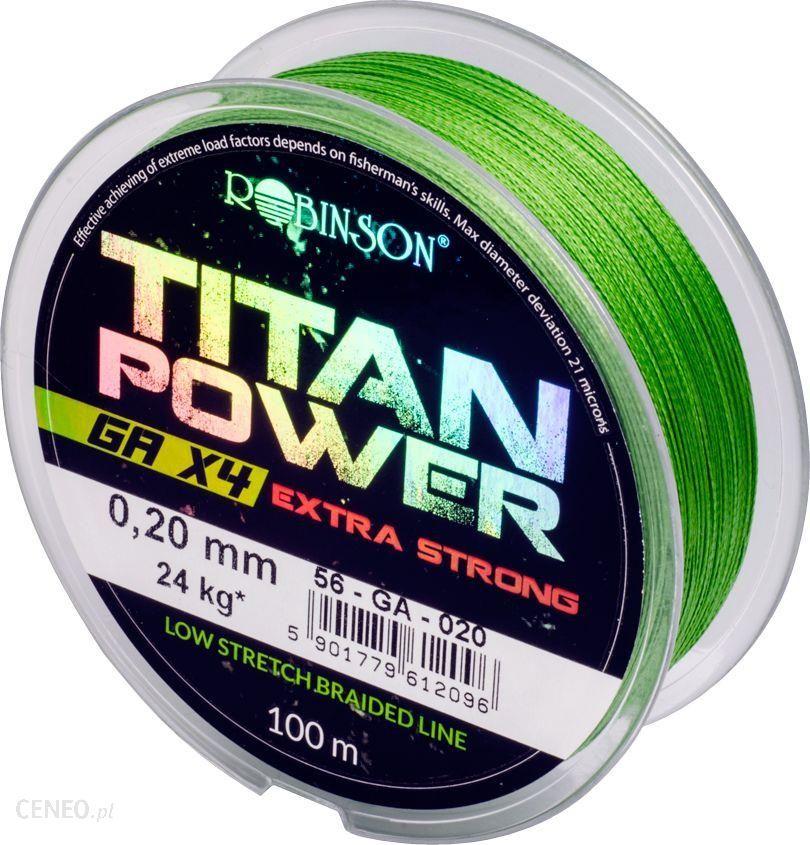 Robinson Plecionka Titan Power Ga X4 0.20Mm 100M Zielona (56-Ga-020)
