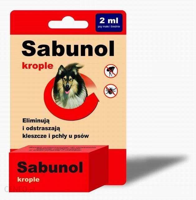Sabunol krople przeciw pchłom i kleszczom 2ml