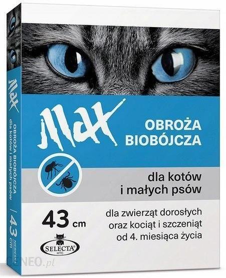 Sabunol Selecta Htc Obroża Max Biobójcza Dla Kota I Małego