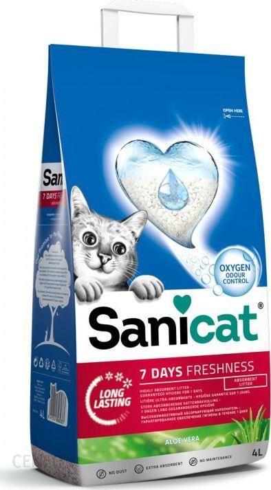 Sanicat 7 Days Aloe Vera Żwirek Dla Kotów 4L