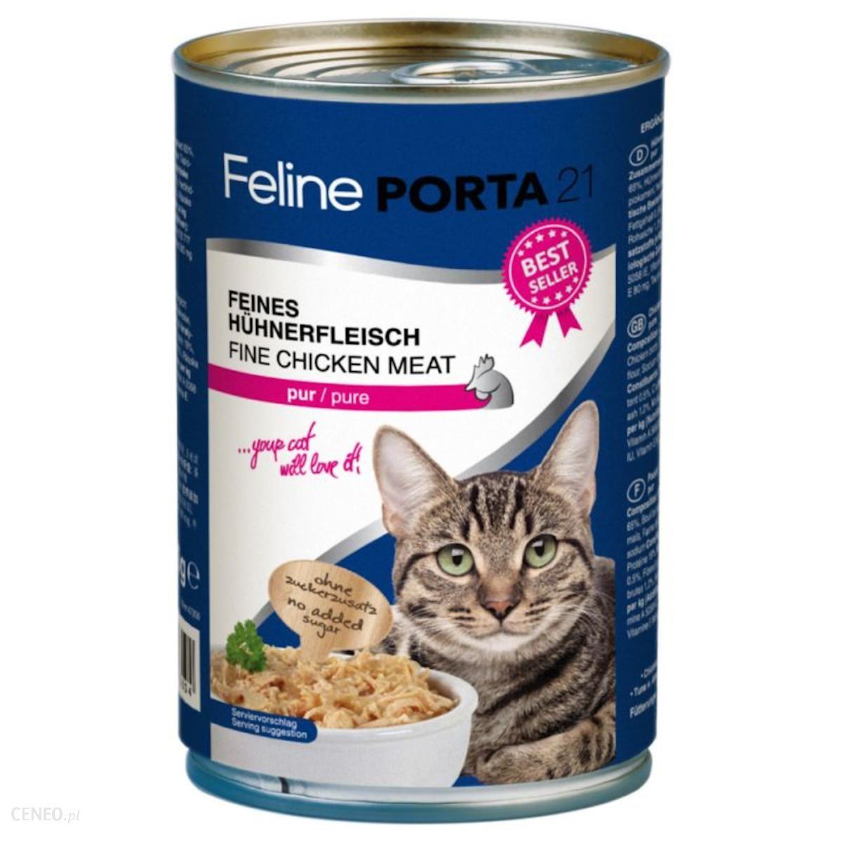 Schulze Heimtierbedarf Gmbh Feline Porta21 Kurczak Filet Puszka 400G Dla Kotów